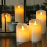 La vela sin llama electrónica del LED enciende la decoración 2017 del hogar de las lámparas de la vela de la llama teledirigida de la simulación que contellea nueva