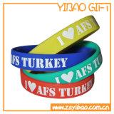 Wristband do silicone de Debossed Colorfilled para o produto relativo à promoção (YB-w-007)