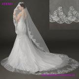 Вуали венчания шнурка вышивки фабрики Китая Bridal с гребнями