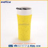 Tasse de café en céramique de double de mur glaçure de silicones