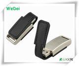 Memória Flash relativa à promoção do USB do couro com capacidade total (WY-L31)