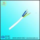 PVC de cuivre de conducteur de R isolé et fil plat BVVB de la gaine 3*2.5mm2