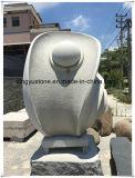 Het natuurlijke Beeldhouwwerk van de Steen van de Steen van het Beeldhouwwerk van het Graniet Snijdende dient langs de Decoratie van de Tuin in