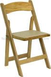 終わる自然な木折るビニールによってパッドを入れられるシート(CGW1709)が付いているウィンブルドンの椅子を