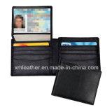 Бумажник протектора владельца карточки неподдельной кожи Bifold