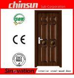 Intérieur en acier et porte en bois avec porte à prix bon marché (SV-SW009)