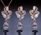 La mode CZ Ensemble de collier de la poire de zircone cubique Bridal CZ bijoux Set Fashion CZ Collier et Earring Fashion CZ Bijoux Cadeaux Robes de mariée CZ Necklace Necklace Set