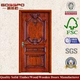 Antike geschnitzter fester hölzerner Tür-Entwurf (GSP2-028)