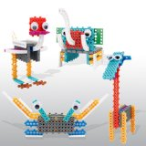 14885502-4 en 1 Animal cambió el Kit de Bloque DIY educativo juguete creativo conjunto de bloques de 47PCS (elefante--- Cangrejo jirafas avestruz)