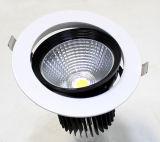 Rond encastrer l'ÉPI réglable rotatif DEL Downlighting de Dimmable 18W de plafond