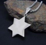 Hexagram Personality Stainless Steel Necklace Pendant Accessoires de mode