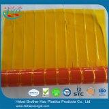 Puerta plegable flexible transparente anaranjada de la cortina de la hoja del PVC de la instalación de DIY
