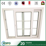 UPVC Small Hurricane Proof fenêtre coulissante avec Iron Grill Design
