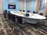 Tabella di congresso di pietra di marmo artificiale della persona delle forniture di ufficio 12