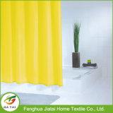 Colore su ordinazione colore giallo PEVA bagno tenda doccia con ganci