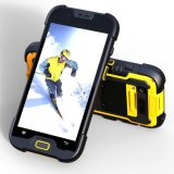 5 pouces Quad Core 4G Lte Rugged Waterproof Smartphone avec 2 + 16 Go de mémoire 5 + 13MP Camera 1d / 2D Barcode Qr Code Scanner