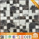 La grieta de hielo en blanco y negro de mosaicos de vidrio para wc Muro (G855006)