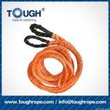 Fibra 100% resistente de Uhwmpe da corda da corda sintética do guincho Orange9mmx30m4X4