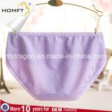Le coton chaud de vente à la mode aèrent la lingerie Panty de dames de sous-vêtements de jeunes filles de plaid