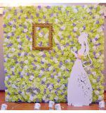 결혼식을%s 인공적인 직물 꽃 벽 훈장