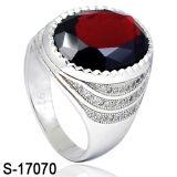 남자 반지 925 은 형식 다이아몬드 CZ는 둥글게 된다