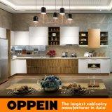 Cabina de cocina de madera de la laca mate moderna de Oppein (OP16-122B)
