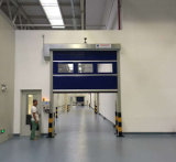 O PVC industrial rápido automático do PVC do anti vento rola acima a porta