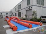 1000FTの使用料のための膨脹可能で極度な二重車線水スライド