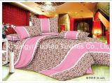 Het kleurrijke Vastgestelde Beddegoed van het Blad van het Bed van Microfiber van het Bamboe van het Patroon van de Bloem Duidelijke Geverfte dat voor Huis wordt geplaatst
