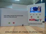 """folleto video de la tarjeta de felicitación de 4.3 """" 5 """" 7 """" LCD con el sostenedor"""