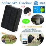 inseguitore solare di GPS del bene 9000mAh con l'allarme V34 movimento/impermeabile