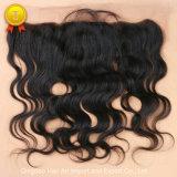 """chiusura naturale del Frontal dei capelli del Virgin di colore dell'onda del corpo 10 """" - 20 """""""