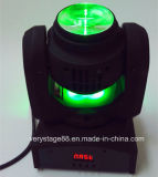 Lavagem dobro do feixe do diodo emissor de luz das faces dos lados 4*10W do dobro cabeça movente da mini