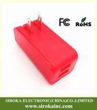 Vouwend ons Adapter van de Lader van de Telefoon USB van de Stop de Dubbele Mobiele met 5V de Lader van de Reis van de 2.1+1AOutput USB