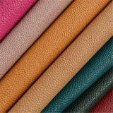 Cuero de la PU del efecto de dos tonos para la fabricación de interior del sofá