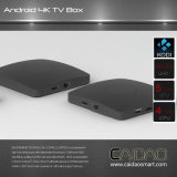 Caidao HD Tvbox 직업적인 인조 인간 6.0 인조 인간 텔레비젼 상자 4k 새로운 Amlogic S905X 칩셋 쿼드 코어 [2g/8g] 초고속 진행 속도 2.4G WiFi 지능적인 텔레비젼 상자