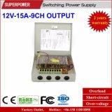 12V 15A 9CH 산출 CCTV 사진기 엇바꾸기 전력 공급