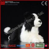 Juguete realista del collie de frontera del perro de la felpa del perro realista del animal relleno