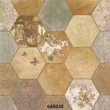 azulejo de suelo de cerámica rústico de la baldosa cerámica de la inyección de tinta 3D