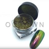 Brillo del polvo del pigmento de la perla del arte del clavo del camaleón del color de la sandía