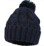 Зимние акриловый ручной вязки Beanie POM POM Red Hat