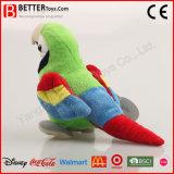 살아있는 것 같은 채워진 견면 벨벳 동물성 Macaw 연약한 앵무새 장난감