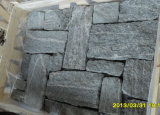 Chine Pierre naturelle ardoise Black Loose Wall Cladding Stone (SMC-FS041)