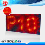 Whosales P10 solo Semi-Outdoor pantallas LED rojo