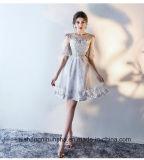 Bridesmaid шнурка шикарный одевает платья короткой мантии партии вышивки изготовленный на заказ