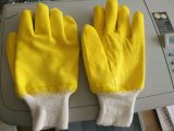 Gants de travail de sécurité en latex, en latex jaune et en latex (L032)