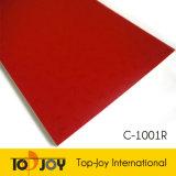 Piso de vinilo rojo de plástico rollo esponja de PVC Mat suelo