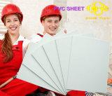 Folha branca da espuma do PVC para anunciar 1-5mm