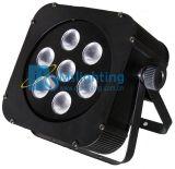 Il LED Plat l'indicatore luminoso multicolore chiaro della rondella della parete di PAR/Stage 7*10W RGBW 4in1 LED