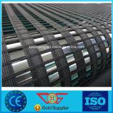 Eingewickelte zweiachsige Polyester-Garn Belüftung-Verstärkung Geogrid